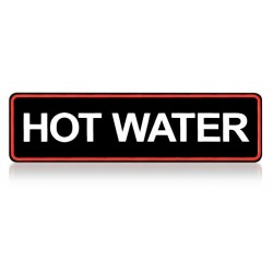 Etiquette Hot water for TH...
