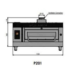 Pizza oven type P201Ma...