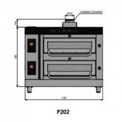 Pizza oven type P202Ma...