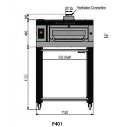 Pizza oven type P401Ma...