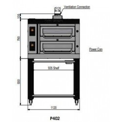 Pizza oven type P402Ma...