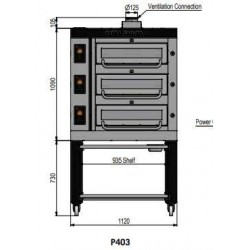 Pizza oven type P403Ma...