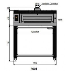 Pizza oven type P601Ma...