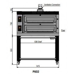Pizza oven type P602Ma...