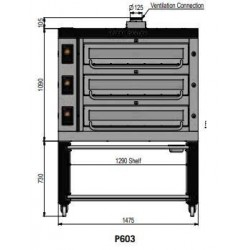 Pizza oven type P603Ma...