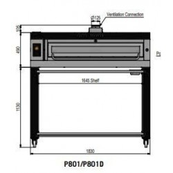 Pizza oven type P801Ma...