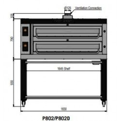 Pizza oven type P802Ma...