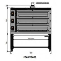 Pizza oven type P803Ma...