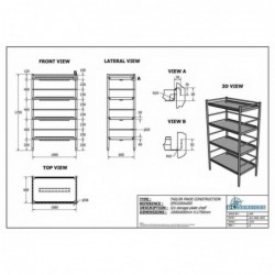 S/s Storage Plate Shelf S/S...