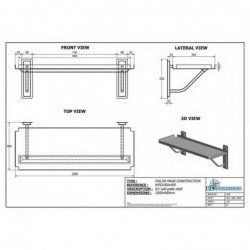 S/s Wall plate shelf S/S...