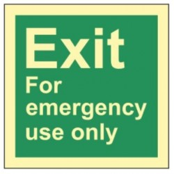 Exit / emergency use only...