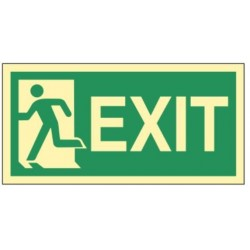 Emergency exit left 30x15...