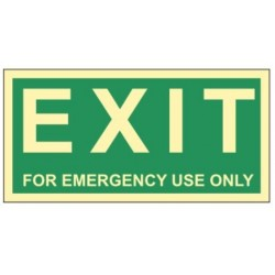 Emergency exit only 30x15...