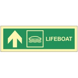 Lifeboat up left 10x30 cm...